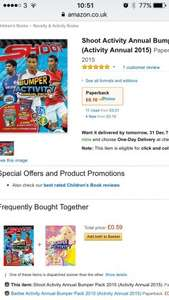 Shoot Annual bumper activity pack 10p Prime / £3.09 Non Prime @ Amazon