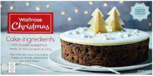 Waitrose Christmas Cake Mix 1.55kg was £11 now £1.37