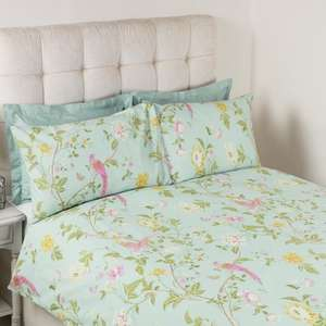 Upto 60% off sale inc All wallpaper and fabric 50% off and extra 10% off for newsletter signup eg Summer Palace 100% cotton 180 thread count bedding sets Kingsize was £90 now £36 more in post @ Laura Ashley
