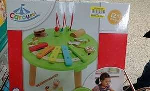Carousel Wooden Musical Activity Table £5.22 Instore Cleethorpes Tesco