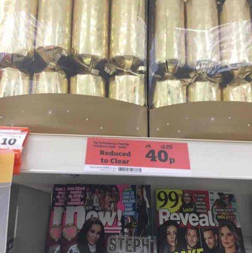 Sainsbury's crackers instore for 40p