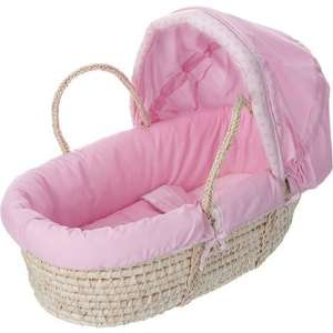 Obaby B - Bear Moses Basket in Pink £13.99 inc delivery @ Worldstores