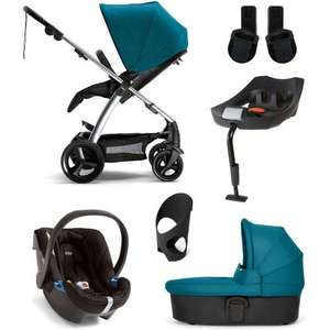 Mamas and Papas Sola2 Six Piece Pram Bundle in Petrol Blue - £429 - (Pushchair, carrycot, isofix base, car seat, adaptors and cupholder) @ Precious Little One