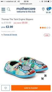 Thomas tank engine boys slippers mothercare - £2 (Free C&C orders over £30)