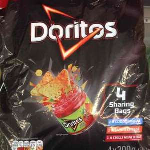 Doritos 4 X 200g sharing bags £1 instore @ FarmFoods