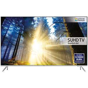 "Samsung UE55KS7000 SUHD HDR 1,000 4K Ultra HD Quantum Dot Smart TV, 55"" with Freeview HD/Freesat HD, Playstation Now & Branch Feet Design, UHD Premium"