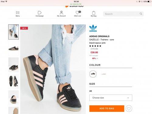 Adidas originals Gazelle trainers £30 @ Zalando (get them for £24.50 with student discount)