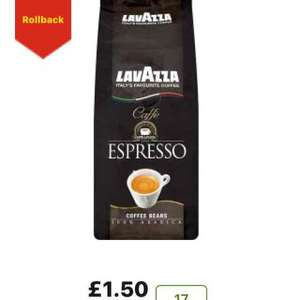 LAVAZZA ESPRESSO COFFEE BEANS £1.50 AT ASDA (instore + online groceries)