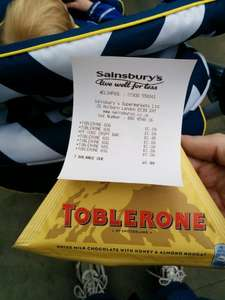 Toblerone only 9p instore @ sainsburys