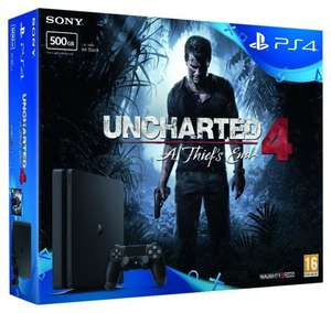 Sony PlayStation 4 500GB with Uncharted 4 Bundle - Cheapest around £199.95 @ Amazon