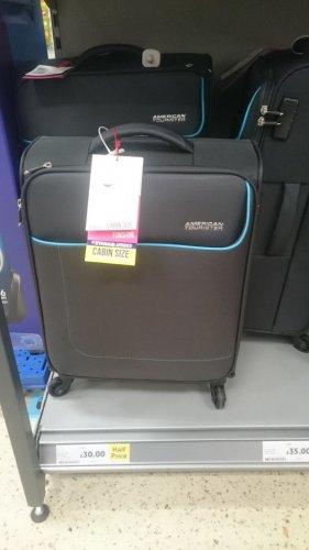 ryanair x american tourister luggage half price at tesco for £30