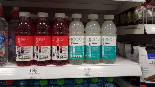 Vitamin water, (19p) 500ml glaceau. lemonade and dragon fruit @ home bargains