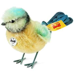 Steiff Piccy Blue Tit Plush Toy (Yellow/Blue/White) @ Amazon for £36.24