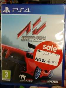 Assetto Corsa PS4 instore at Asda for £15