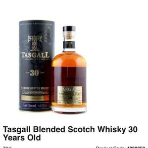 tasgal 30 year old blended scotch whiskey at Asda for £25