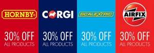 Hornby/Corgi/Scalextric/Airfix 30% off at Boswells