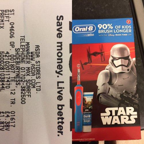 Oral B Star Wars toothbrush £4.38 instore @ Asda