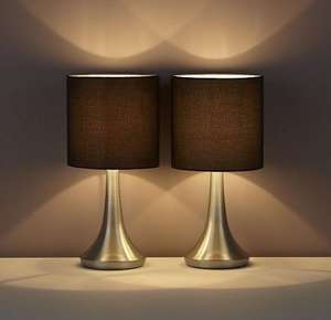 Pair of Touch lamps black/taupe/red @Tesco online & instore £7 free c&c