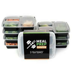 7 Day Meal Prep Haven 3-Compartment Food Containers £11.95 Prime / £16.70 Non Prime @ Amazon