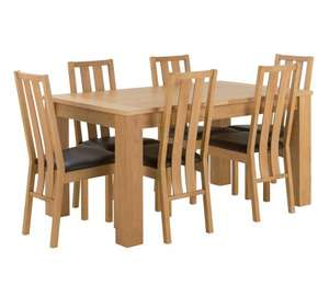 Home of Style Oakhampton Dining Table & 6 Chairs £199.99 @ Argos