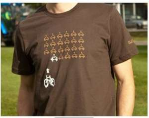 Bicycle vs Cars 'Space Invaders' T Shirt on sale for £10 at SusTrans