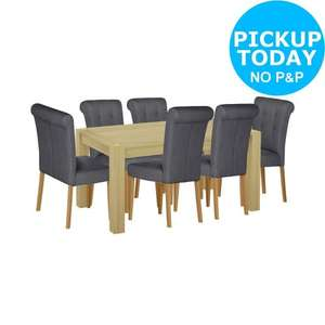 Home of Style Whipsnade Dining Table with 6 Brown Chairs £211.94 @ [discounts at checkout] argos on ebay