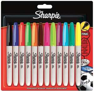 Sharpie Fine Point Permanent Marker - Assorted Colours, Pack of 12 Add-on Item £3.99 @ Amazon