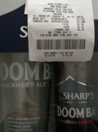 Sharps Doom Bar gift set 75p @ Asda Boldon