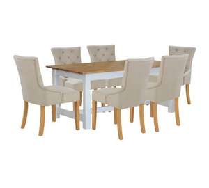 Home of Style Sherington Dining Table with 6 Grey Chairs was £899.99 now £279.99 or £223.99 with code plus £6.95 delivery @ Argos