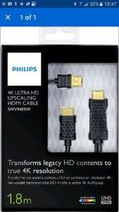 Philips 4K hdmi upscaling cable 40% off at checkout! £5.99 @ Argos ebay outlet