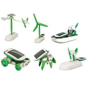 Robot Kits solar science 6 in 1 educational £2.49 in home bargains