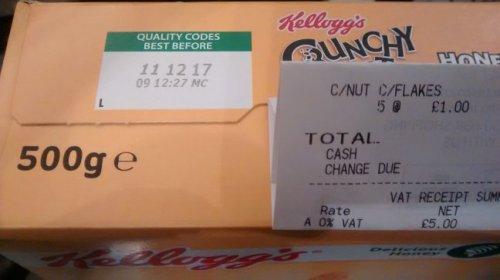 Kellogg's Crunchy Nut Cornflakes - 500g Tesco Instore £1