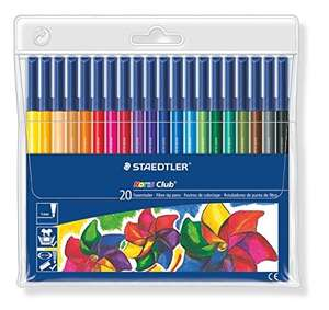 Staedtler 326WP20 Noris Club Fibre-Tip Pen with Wallet - Assorted Colours, Pack of 20 - £5.31 delivered @ sold by K Direct  Amazon