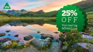 January Sale - 25% off bookings with code, prices from £9.75 @ YHA