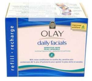 Olay Daily Facials Cleansing Cloths Refill Pack Sensitive 30s £4.99 or 2 for £4.00 @ Boots