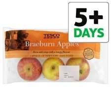 Tesco Braeburn Apple Minimum 5 Pack 670G, reduced from £1.50 to £0.69 at Tesco from 03 Jan