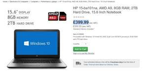 HP 15-ba101na, AMD A9, 8GB RAM, 2TB Hard Drive, 15.6 Inch Notebook £399.99 Costco