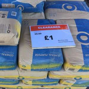 Cement bag 25kg @ B&Q Boston for just £1!