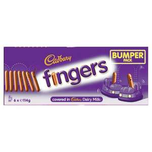 Cadburys chocolate fingers bumper pack 6 x 114g £2.00 at Iceland
