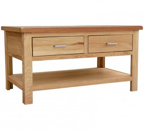 Solid Wood 'Denham' Coffee Table Made from Oak and Oak Veneer - £54.49 @ Argos