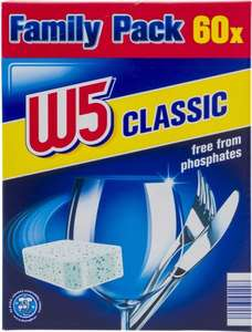Lidl W5 Dishwasher Tablets x 60 £2.95