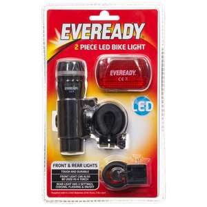 Eveready LED Bike Light 2pc (includes batteries) B&M - 99p