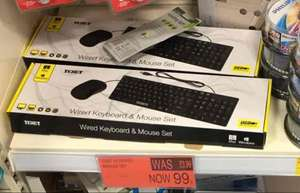 Texet Keyboard and Mouse Set 99p instore @ B&M
