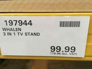 Whalen 3 in 1 upto 52 inch tv stand - instore costco, same as weblink £119