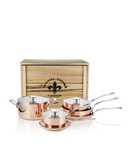 Mauviel M'150c Copper Six-Piece Cookware Set reduced from £1,499 to £969 @ Harrods