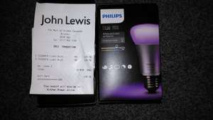Philips Hue White and colour ambiance smart bulb scanning at £24.98 instore @ John Lewis