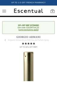 100ml Giorgio Armani Emporio Armani ELLE/SHE Eau de Parfum Spray £29.95 Inc delivery @ ESCENTUAL (with code)
