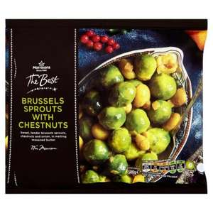 Morrisons The Best Sprouts With Chestnuts & Butter 500g Was £1.50 Now 50p