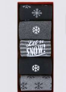Marks And Spencer 5 pack of men's Christmas socks were £10, now