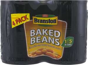 Branston Beans/Spaghetti 4pk  £1.25 @ Tesco from 4th Jan